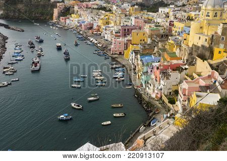 Procida Is One Of The Flegrean Islands Off The Coast Of Naples In Southern Italy