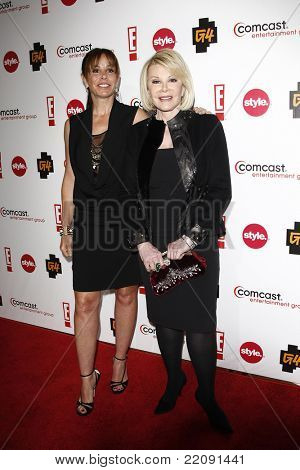 PASADENA - JAN 5: Joan Rivers and Melissa Rivers at the Comcast Entertainment Group TCA Cocktail Reception held at the Langham Hotel, Pasadena, California on January 5, 2011