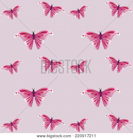 Beautiful texture: animal print - butterflies. Wings of an insect with beautiful pattern. Stylish gentle print.