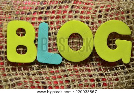 word blog onb aan abstract colored background