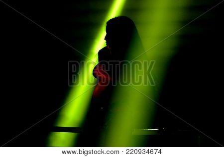 Go go girl dancing in the night club