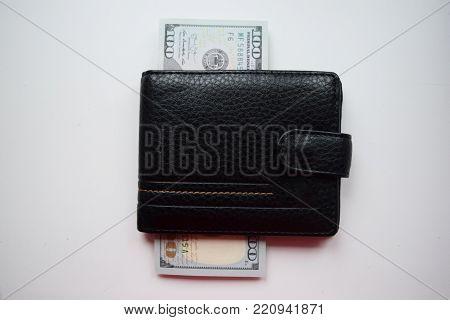 Dollars rolled closeup. American Dollars Cash Money. 100 Hundred Dollar Banknotes.