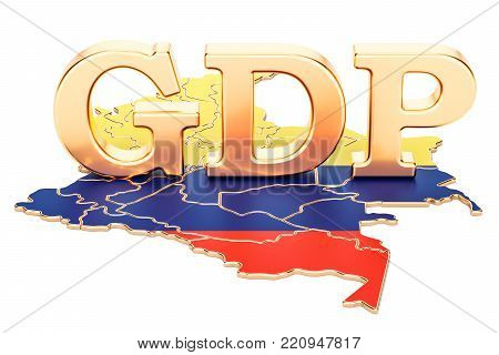 gross domestic product GDP of Colombia concept, 3D rendering isolated on white background