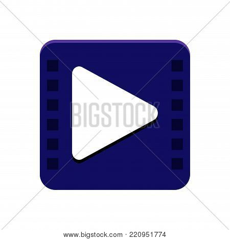 Multimedia app button on a white background, Vector illistration