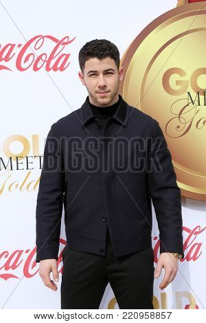 LOS ANGELES - JAN 6:  Nick Jonas at the GOLD MEETS GOLDEN: The 5th Anniversary at the House on Sunset on January 6, 2018 in Los Angeles, CA