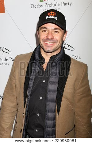 LOS ANGELES - JAN 5:  Oriol Servia at the Unbridled Eve Derby Prelude Party Los Angeles at the Avalon on January 5, 2018 in Los Angeles, CA