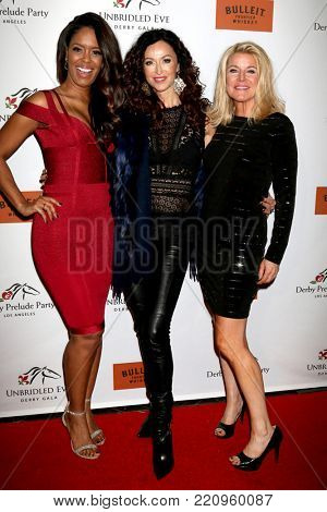 LOS ANGELES - JAN 5:  Julie Smith, Sofia Milos, Tonya York Dees at the Unbridled Eve Derby Prelude Party Los Angeles at the Avalon on January 5, 2018 in Los Angeles, CA