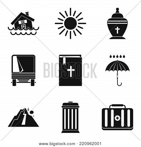 Beat nature icons set. Simple set of 9 beat nature vector icons for web isolated on white background