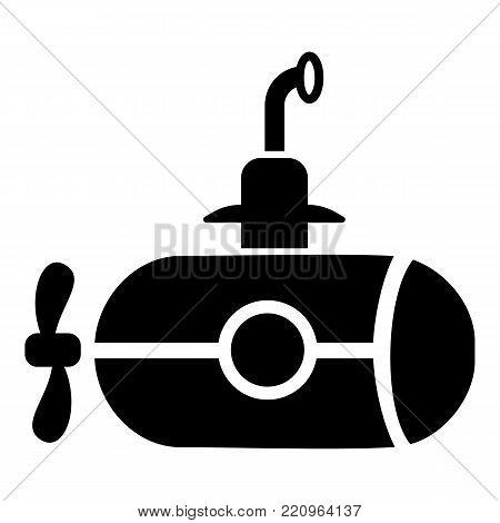 Bathyscaphe with screw icon. Simple illustration of bathyscaphe with screw vector icon for web.