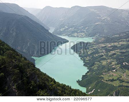 Mount Tara and Drina rivers