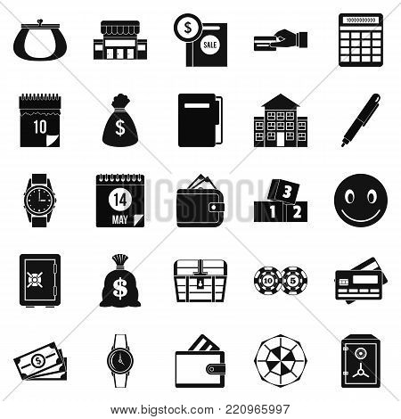 Contribution icons set. Simple set of 25 contribution vector icons for web isolated on white background
