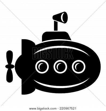 Bathyscaphe with horn icon. Simple illustration of bathyscaphe with horn vector icon for web.