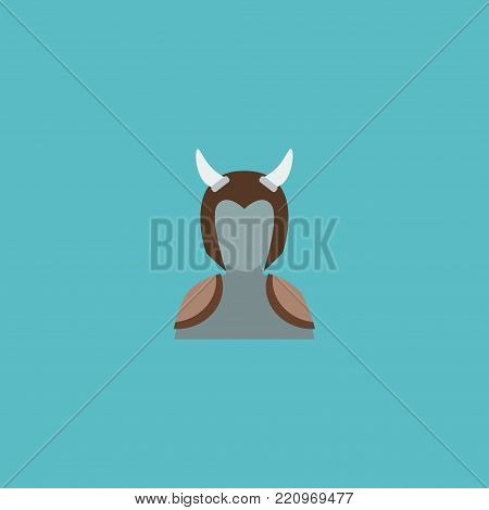 Icon flat orc element. Vector illustration of icon flat avatar isolated on clean background. Can be used as orc, ogre and avatar symbols.