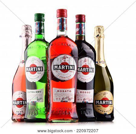 Bottles Of Martini, Famous Italian Vermouth
