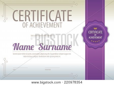 Blank Certified Border Template Luxury Background Vector Illustration. EPS 10
