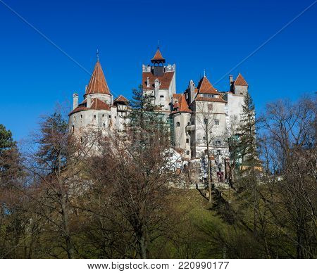 Medieval Castle of Bran Dracula's castle -Brasov -Transylvania Romania.