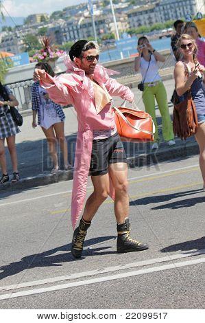 Pink Man At The Gay Pride 2011, Geneva, Switzerland