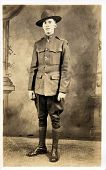 Early 1900 photograph of soldier from World War One. poster