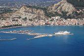 Aerial view on Zakynthos island Greece - Zante town poster