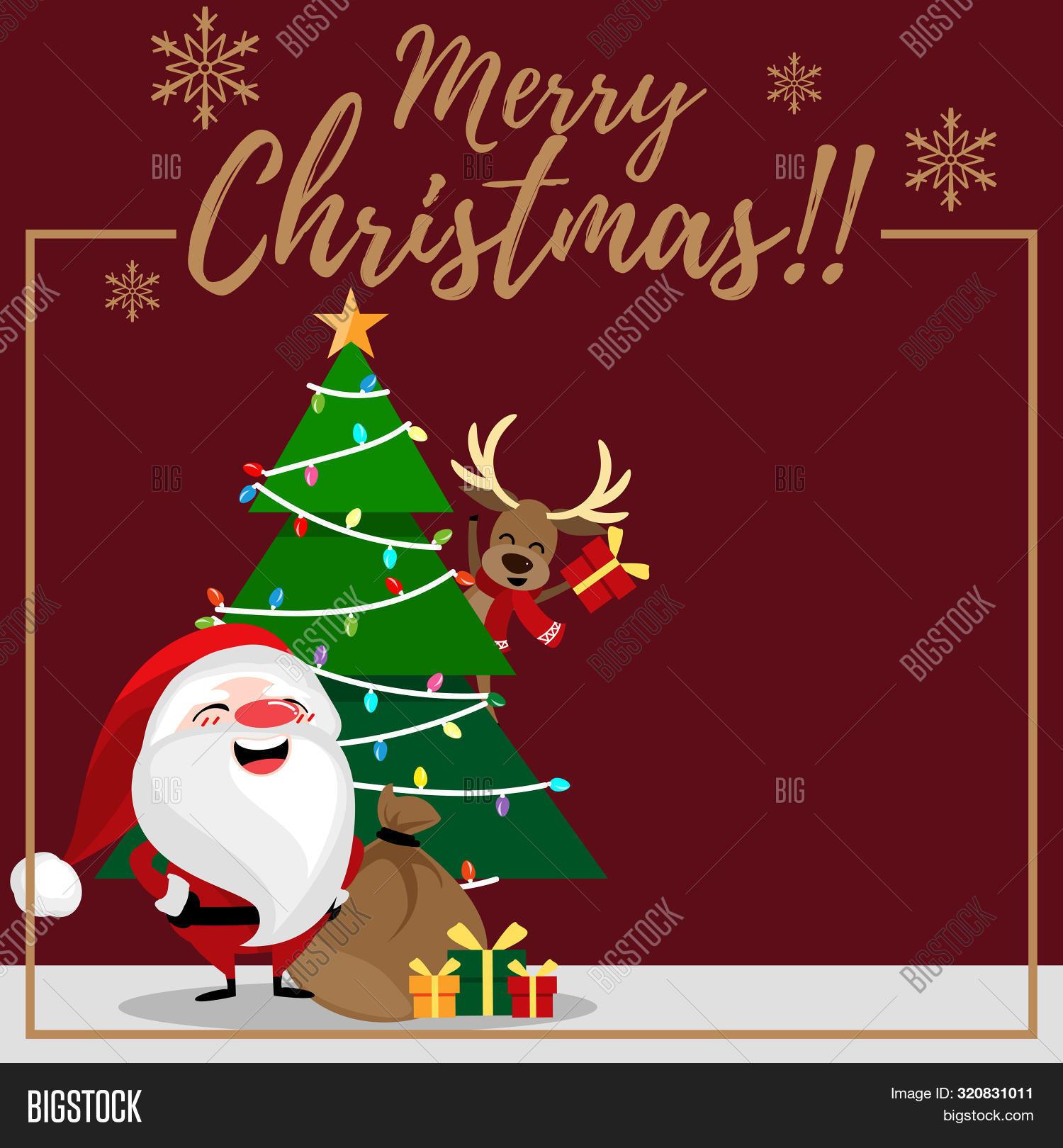 Christmas Cartoon Vector Photo Free Trial Bigstock
