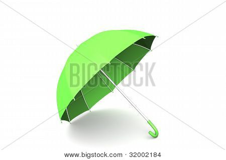 3D Render Of An Umbrella