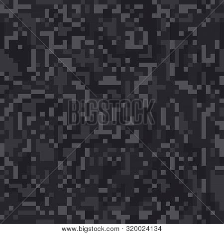 Digital Pixel Camouflage Seamless Pattern For Your Design. Vector Camo Texture