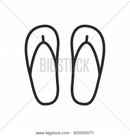 Flip Flops Icon Isolated On White Background. Flip Flops Icon In Trendy Design Style For Web Site An