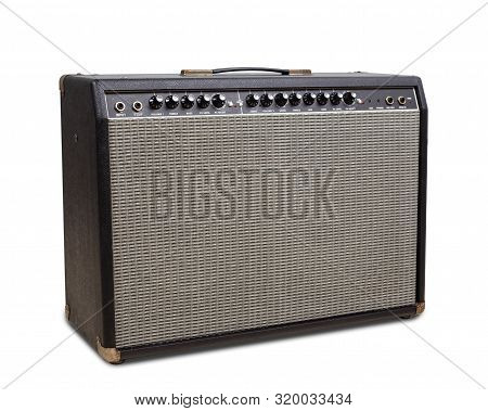 Guitar Amplifier, Guitar Amplifier Isolated On White Background