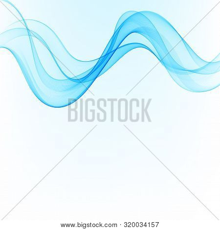 Abstract Color Wave Design Element. Blue Wave.vector