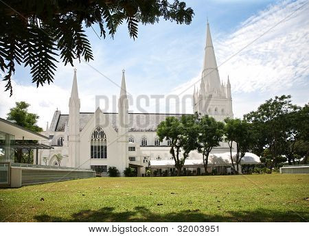Cathedral church in Singapore