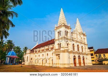 Santa Cruz Basilica Or Roman Catholic Diocese Of Cochin Church Located In Fort Kochi In Cochin, Indi