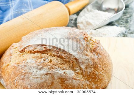 Close Up Of Fresh Baked Bread