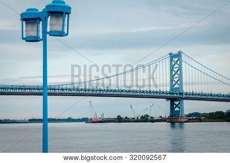 Philadelphia Pa / Usa - August 23rd 2014: Bridge Leading To New Jersey From Philadelphia Pennsylvani