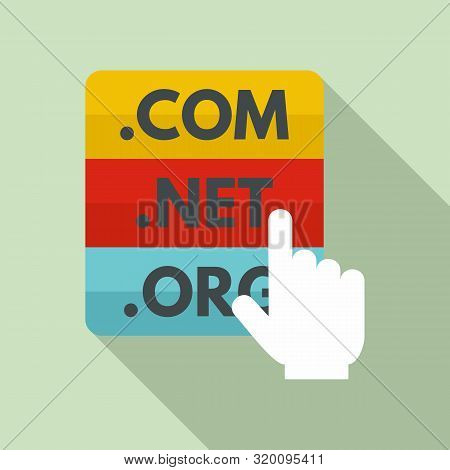 Domain Icon. Flat Illustration Of Domain Vector Icon For Web Design