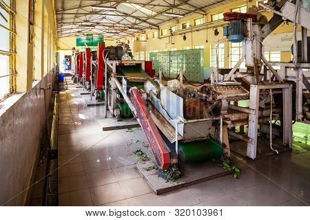 Munnar, India - March 16, 2012: Machines Inside Tea Factory In Munnar Town In India
