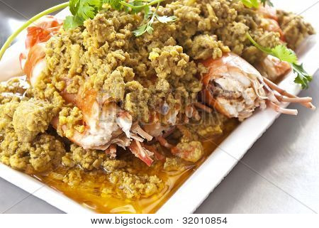 Fried shrimp with curry powder