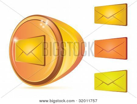 Abstract Email Button