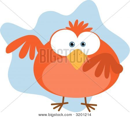Red Fat Bird