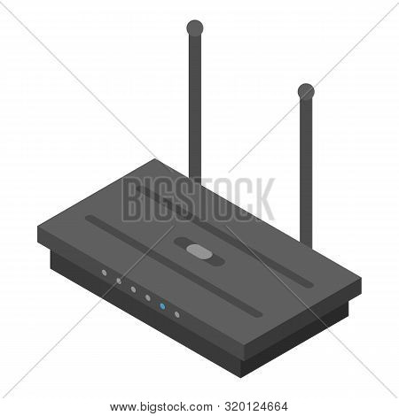Wireless Router Icon. Isometric Of Wireless Router Vector Icon For Web Design Isolated On White Back