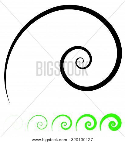 Abstract Spiral, Twist. Radial Swirl, Twirl Curvy, Wavy Lines Element. Circular, Concentric Loop Pat