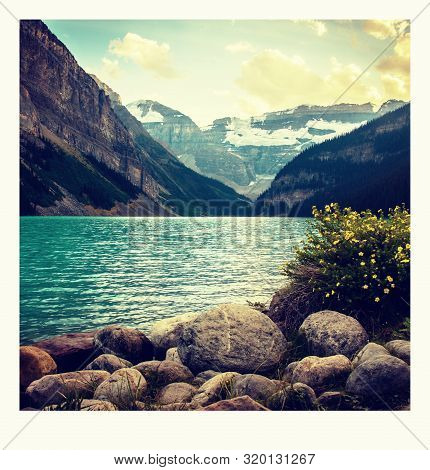 A Photo On The Way Around Lake Louise In Banff, In The Rocky Mountains, Banff National Park, Alberta