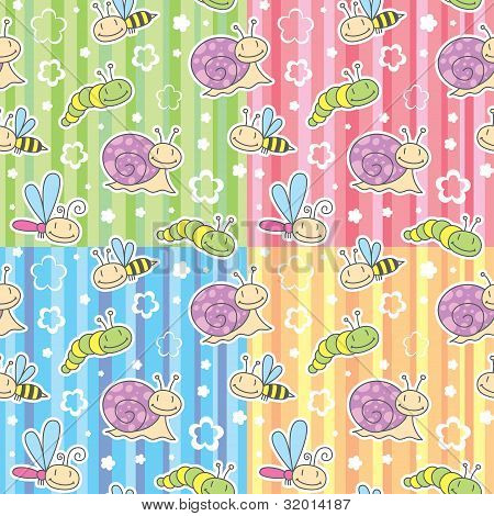 patterns with insects