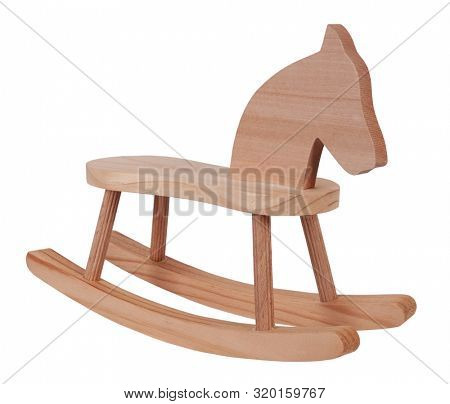 Rocking horse wooden toy vintage childhood