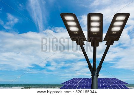 Led Lighting System, Light Pole Technology Isolated From The Background