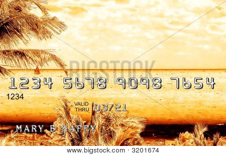 Gold  Credit  Debit Card