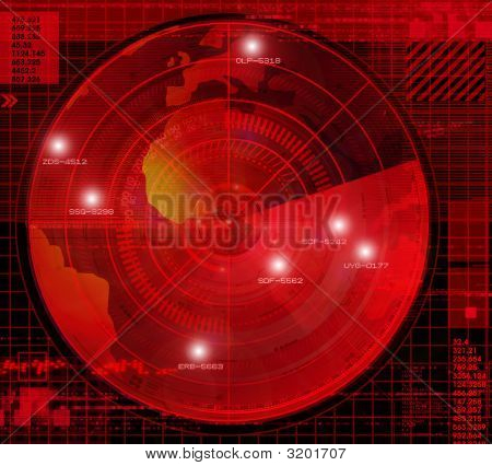 Abstract radar illustration conceptual and metaphorical graphic poster