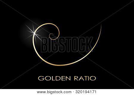 Golden Ratio. Fibonacci Number. Circles In Golden Proportion. Geometric Shapes. Logo. Abstract Vecto