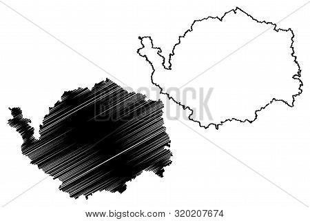 Karlovy Vary Region (bohemian Lands, Czechia, Regions Of The Czech Republic) Map Vector Illustration