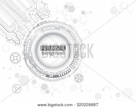 Abstract Global Technology Concept. Digital Internet Communication On Grey Background. Connection St
