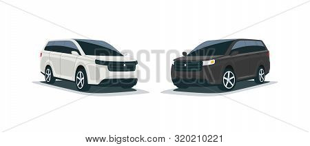 Cartoon Illustration Of An Abstract 4X4 Suv Mpv Family Car